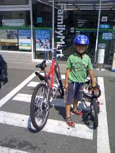 息子とサイクリング