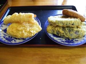 天ぷらも大満足