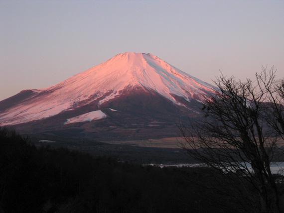 富士山の朝焼け2