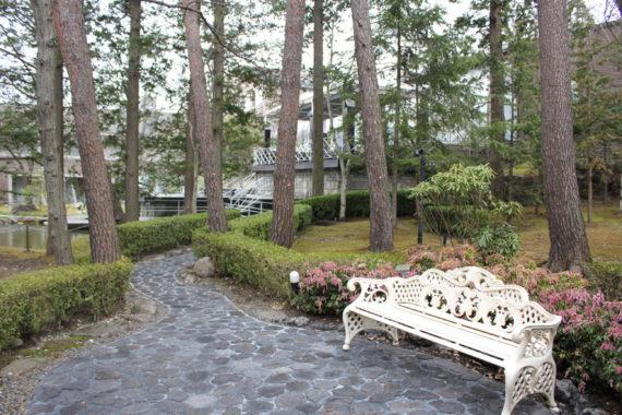 エクシブ軽井沢の中庭