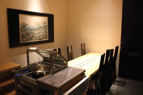 天婦羅懐石の個室