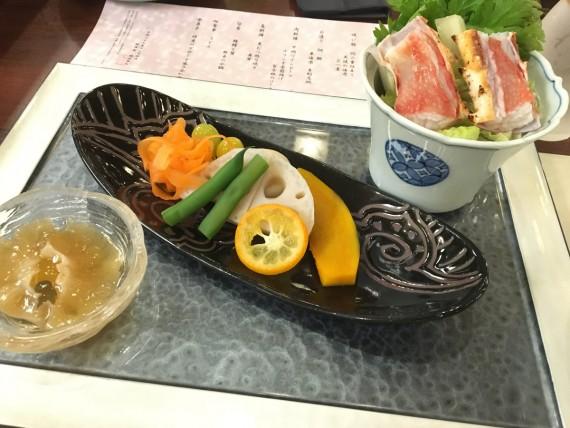 リゾート会席「湖月」 鱶鰭と野菜の小鍋