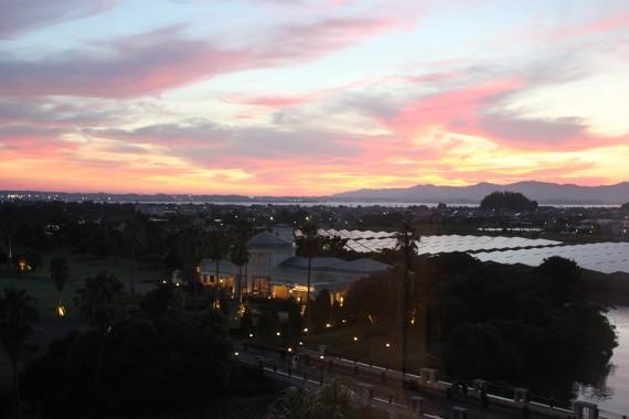 エクシブ浜名湖からの夕日
