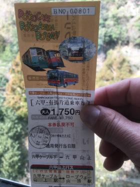 六甲ケーブル・ロープウェイのチケット