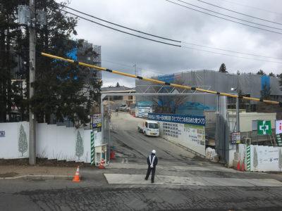建設中の六甲サンクチュアリ・ヴィラ(2017年3月末時点)