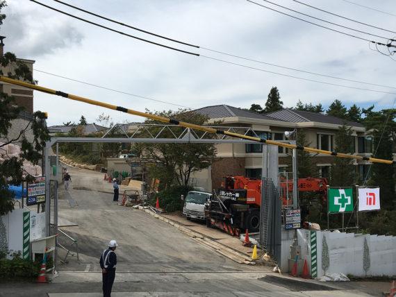 建設中の六甲サンクチュアリ・ヴィラ(2017年9月時点)