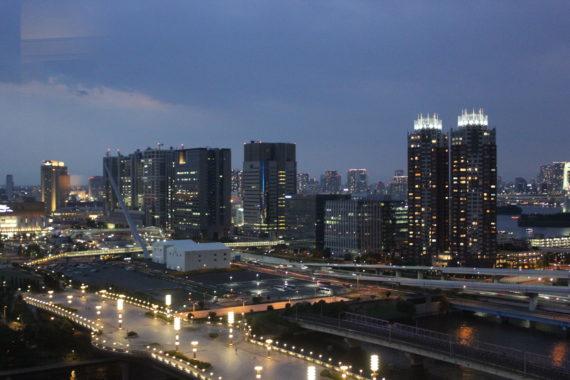 東京ベイコート倶楽部のロイヤルスイートからの眺め